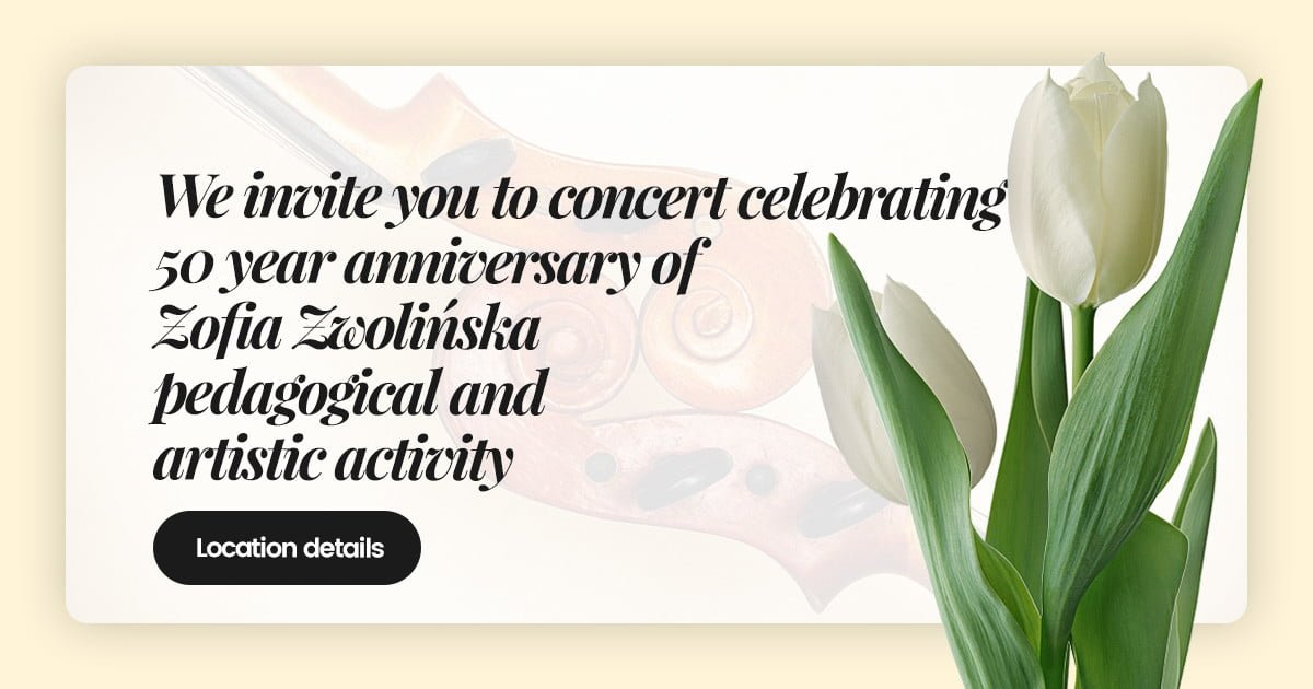 50 Anniversary Zofia Zwolińska artistic and pedagogical activity concert