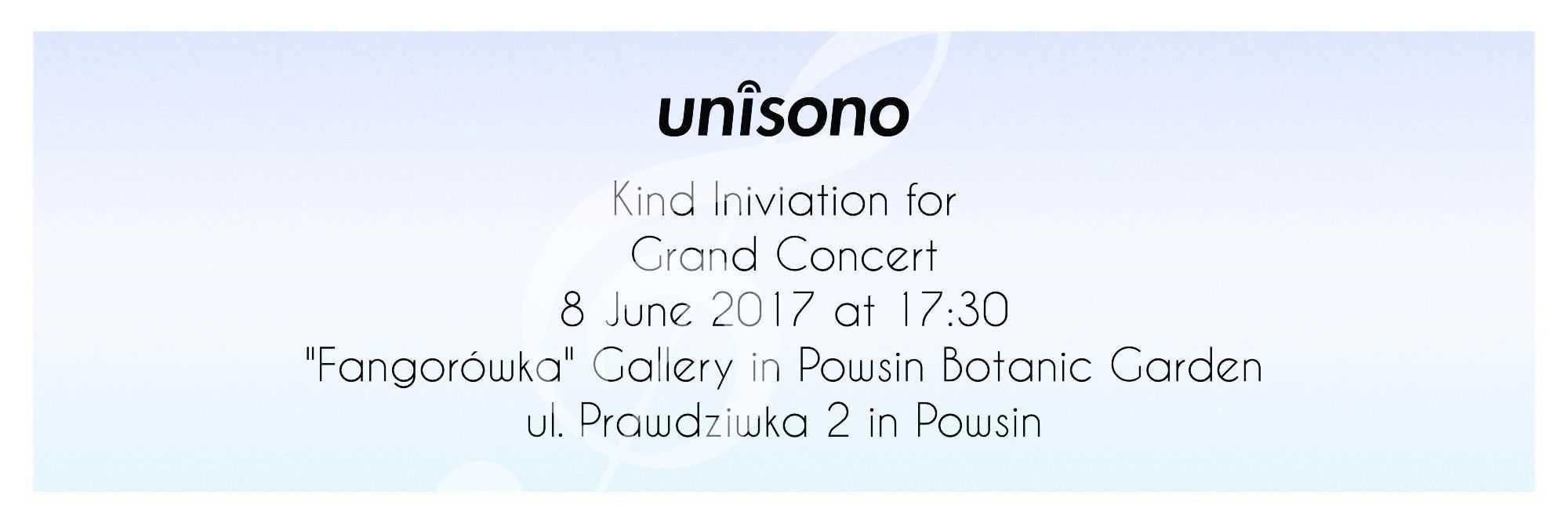 Grand Concert 2017 Invitiation