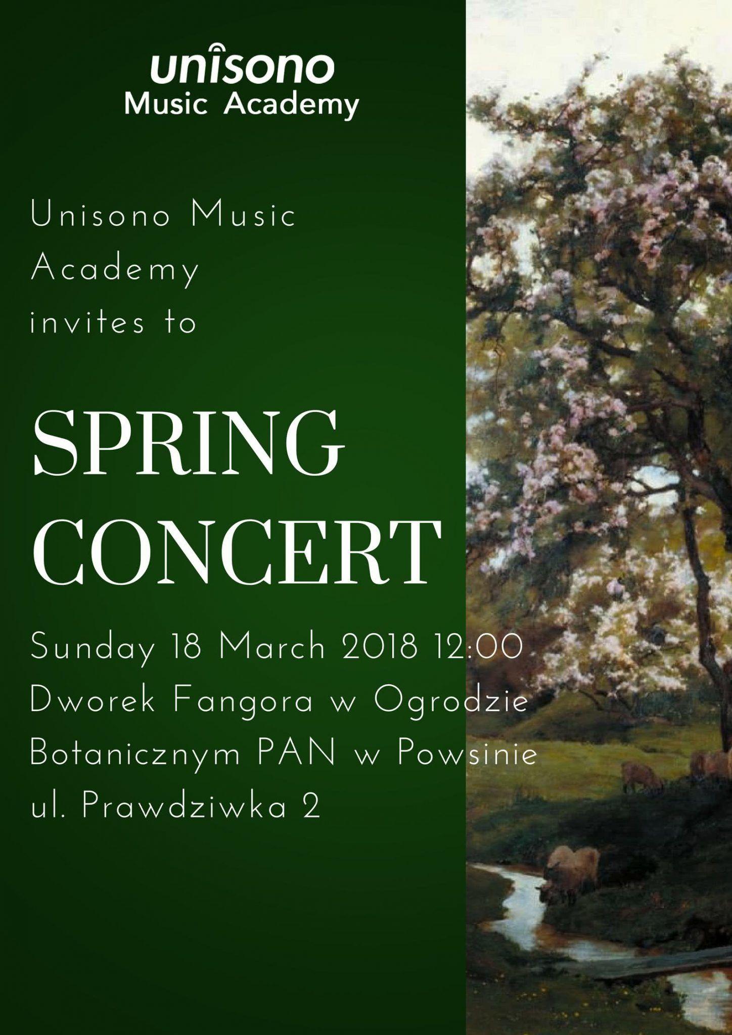 Invitation To Spring Concert 2018