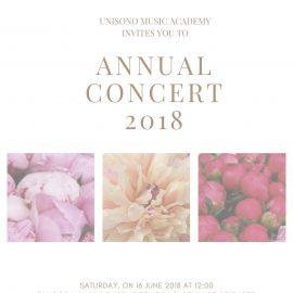 Invitation to Annual Concert 2018 Invitation