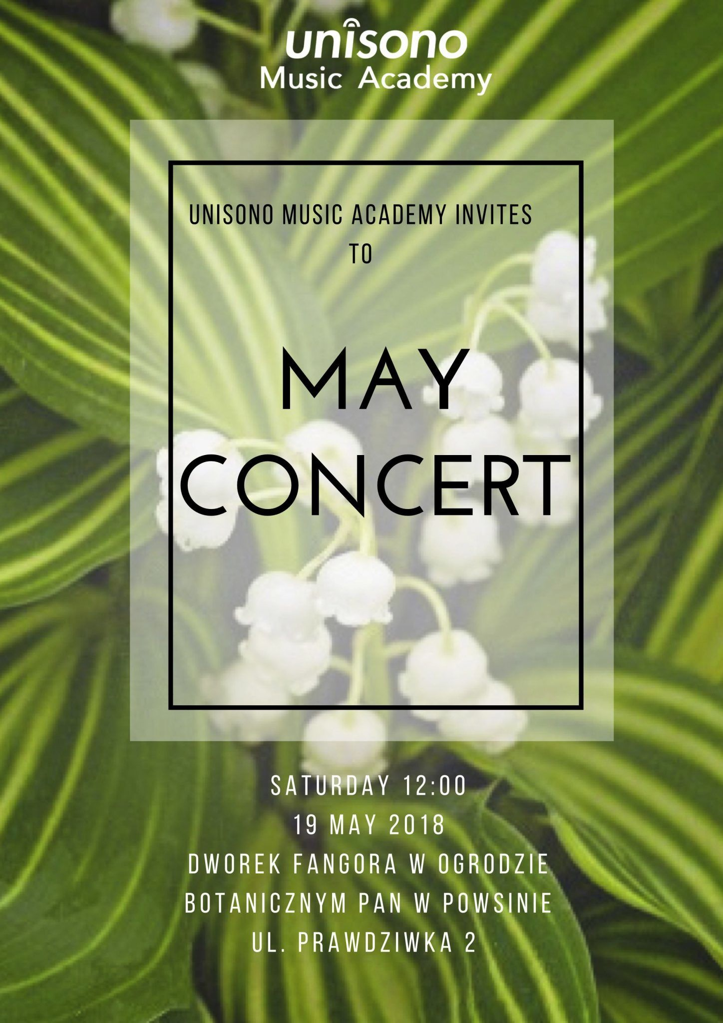 May Concert 2018 Invitation