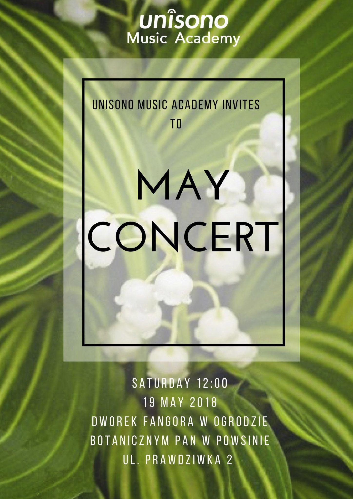May Concert 2018 Invitation