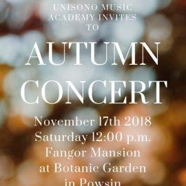 Autumn Concert 2018 Invitation