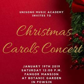 Christmas Carols Concert 2019 Invitation