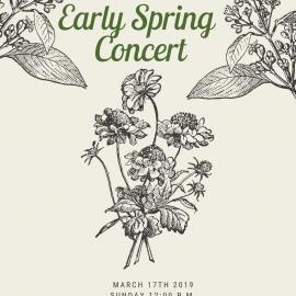 Early Spring Concert 2019 Invitation