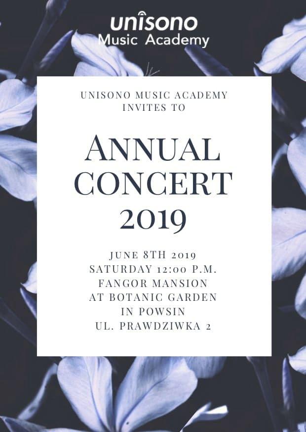 Annual Concert 2019 Invitation