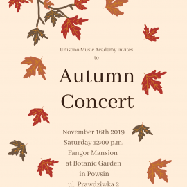 Autumn Concert 2019 Invitation