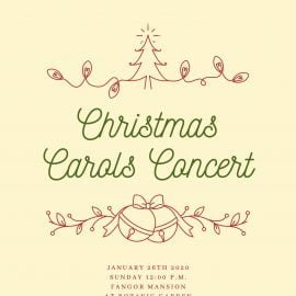 Christmas Carols Concert 2020 Invitation