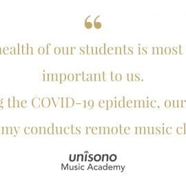 Remote Music lessons during COVID-19 pandemic