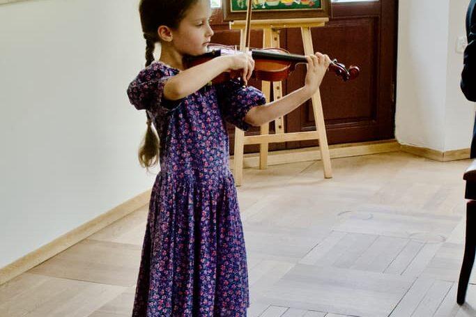 a student of Unisono violin class, Pałac Fangora PAN - concert