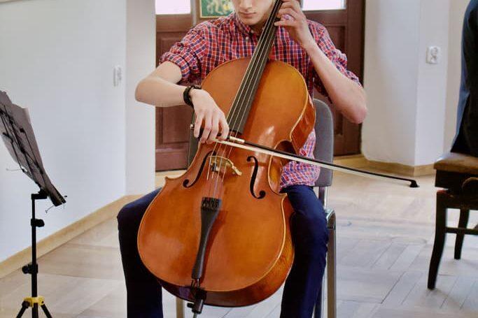 cello student, unisono annual concert 2021